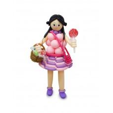 Gergean Pink Girl Sculpture